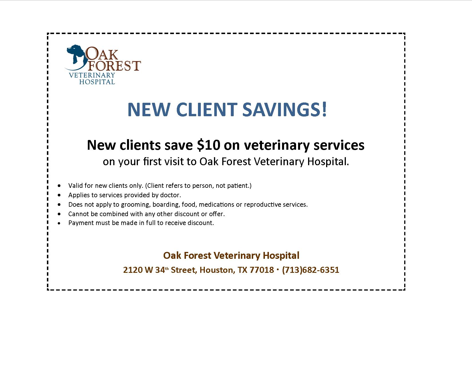 Oak Forest Veterinary Hospital New Client Resources | Oak Forest ...